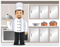 A chef in a kitchen Royalty Free Stock Images
