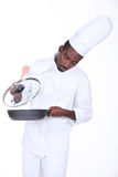 Chef in the kitchen Stock Photos