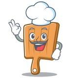 Chef kitchen board character cartoon. Vector illustration Stock Photography