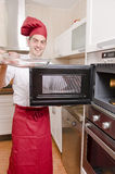 The chef in the kitchen. Royalty Free Stock Photos