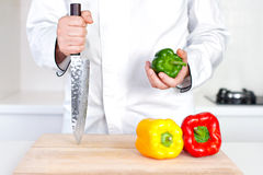 Chef in the kitchen Royalty Free Stock Photos