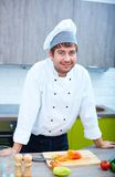 Chef in the kitchen Royalty Free Stock Photography