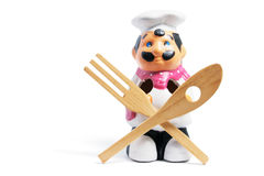 Chef Kitchen Utensil Holder Stock Images