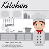 Chef In Kitchen Royalty Free Stock Images