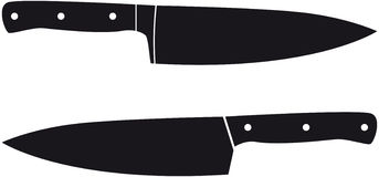 Chef knives Royalty Free Stock Photography