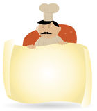 Chef-Koch-Fahne Stockbild