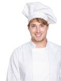 Chef-kok, bakker of mannelijke kok stock afbeelding