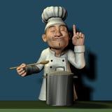 Chef-kok bij de steekproef Royalty-vrije Stock Foto