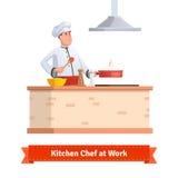 Chef-kok Cooking Food Royalty-vrije Illustratie