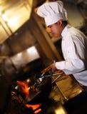 Chef-kok die 2 kookt royalty-vrije stock foto's
