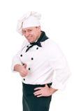 Chef-kok in eenvormig royalty-vrije stock fotografie