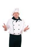 Chef-kok in eenvormig royalty-vrije stock afbeeldingen