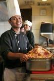 Chef-kok en lapjes vlees Royalty-vrije Stock Afbeeldingen