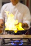 Chef-kok het koken Stock Fotografie