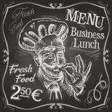 Chef-kok, het ontwerpmalplaatje van het kok vectorembleem Snackbar Royalty-vrije Stock Fotografie