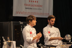 Chef-kok Jordi Cruz 4 sterren Michelin Royalty-vrije Stock Afbeeldingen