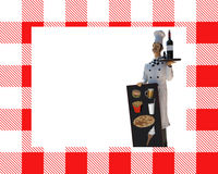 Chef-kok met bordmenu Stock Afbeeldingen