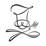 Chef-kok met lepel en vork Royalty-vrije Stock Afbeeldingen