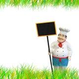 Chef-kok met menu Royalty-vrije Stock Foto