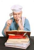 Chef-kok met receptenboek. Royalty-vrije Stock Fotografie