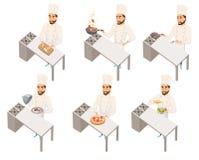 Chef-kok in restaurant Royalty-vrije Stock Afbeelding