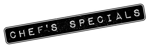 Chef-kok` S Specials rubberzegel Royalty-vrije Stock Foto's