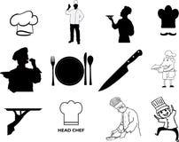Chef-kok vectoreps illustratie door crafteroks stock illustratie