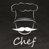 Chef-kokembleem Royalty-vrije Stock Fotografie