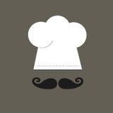 Chef-kokhoed en bakkebaard Stock Afbeeldingen