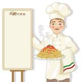 Chef-kokillustratie Stock Foto's