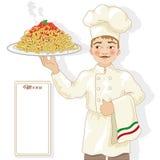 Chef-kokillustratie Stock Afbeelding