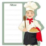 Chef-kokillustratie Royalty-vrije Stock Afbeeldingen