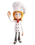 Chef-kokkarakter met beste teken Stock Fotografie