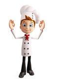 Chef-kokkarakter met beste teken Stock Foto