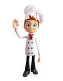 Chef-kokkarakter met beste teken Stock Afbeelding