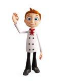 Chef-kokkarakter met beste teken Stock Afbeeldingen