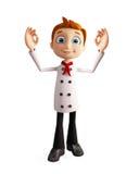 Chef-kokkarakter met beste teken Royalty-vrije Stock Foto's