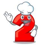 Chef-kokkarakter nummer twee op houten deur stock illustratie