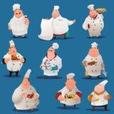Chef-kokkarakters Stock Foto
