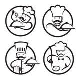 Chef-koks Royalty-vrije Stock Afbeeldingen