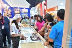 Chef-koks in THAIFEX - Wereld van voedsel AZIË 2017 Royalty-vrije Stock Fotografie