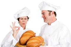 Chef-koksbroden van Brood Royalty-vrije Stock Foto