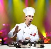 Chef-kokster royalty-vrije stock afbeeldingen
