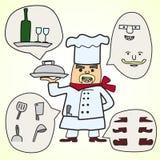 Chef-kokvector Royalty-vrije Stock Fotografie