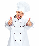 Chef-kokvrouw. Stock Afbeeldingen