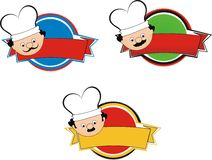 Chef labels Stock Photo