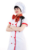 Chef with a ladle in hand Royalty Free Stock Image