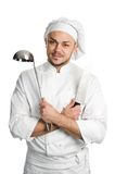 Chef with ladle isolated Royalty Free Stock Photos