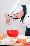 Chef with large spoon Stock Photography