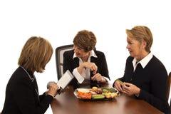 Chef-Laughs During Business-Sitzung Lizenzfreies Stockbild